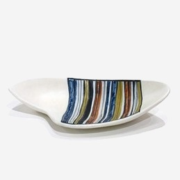 Decorative Dish with decor Rayures