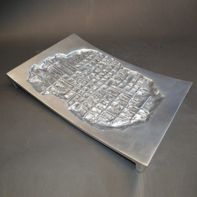 Arnaldo Gamba Cast Aluminum Decorative Tray Tradito 2002 6
