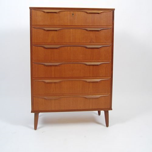 Danish Six Drawer Dresser