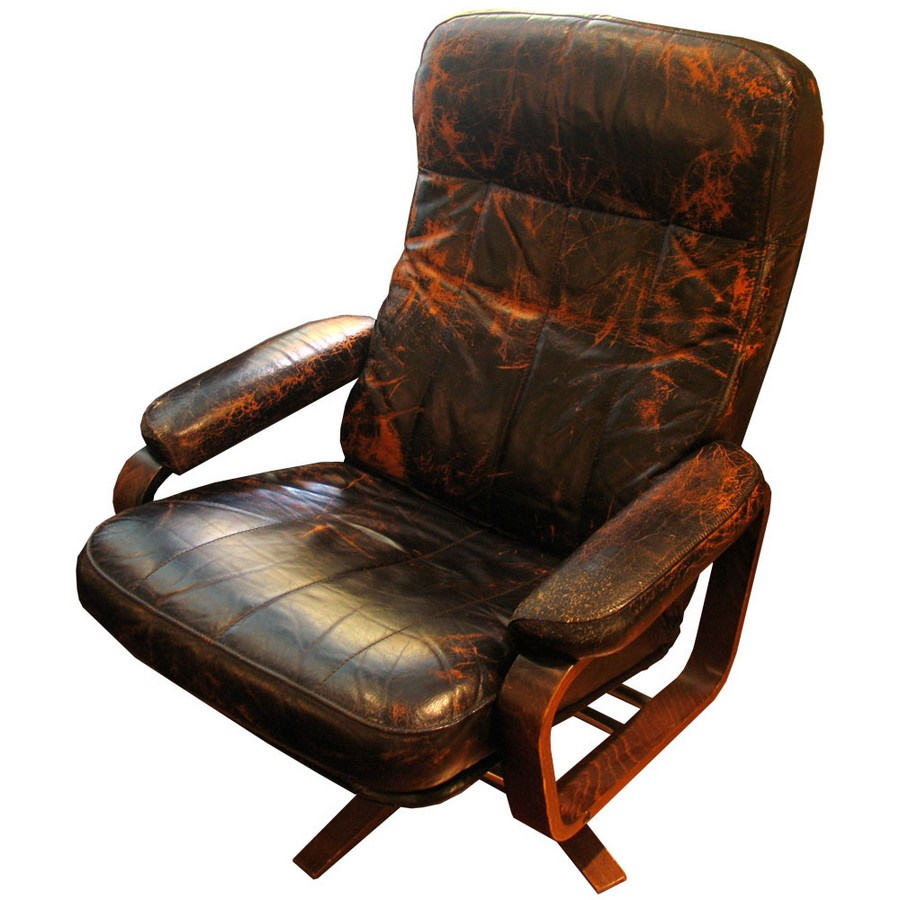 Leather Chair with Swivel Base