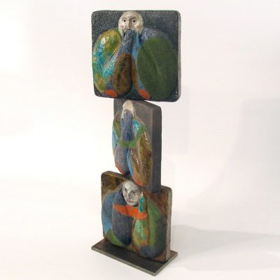 """Proverb 5"" Ceramic Tile Sculpture by Jean-Paul Bonnet"