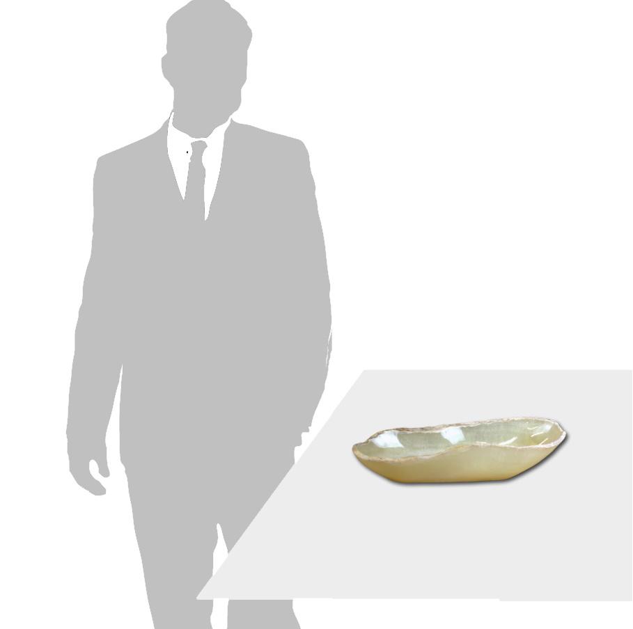 Large Oval Onyx Bowl 207