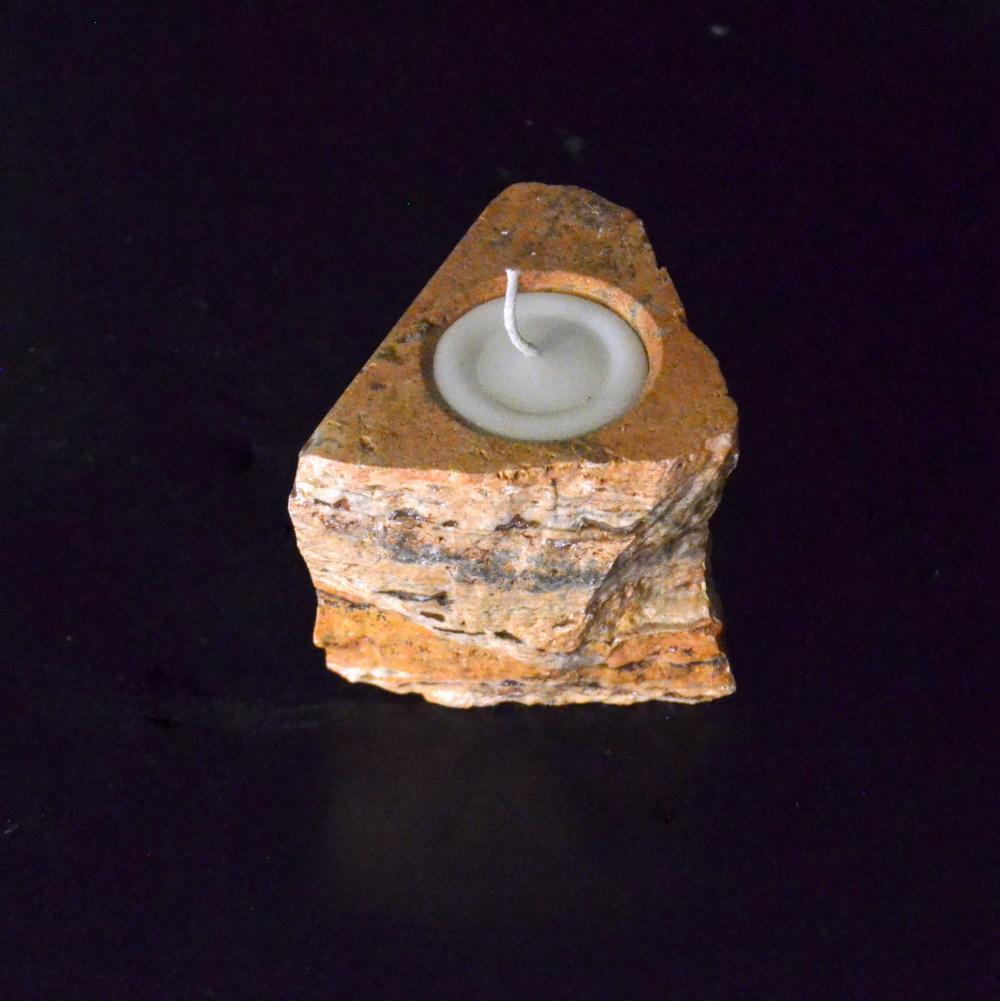 Onyx Candle Holder 19c 1