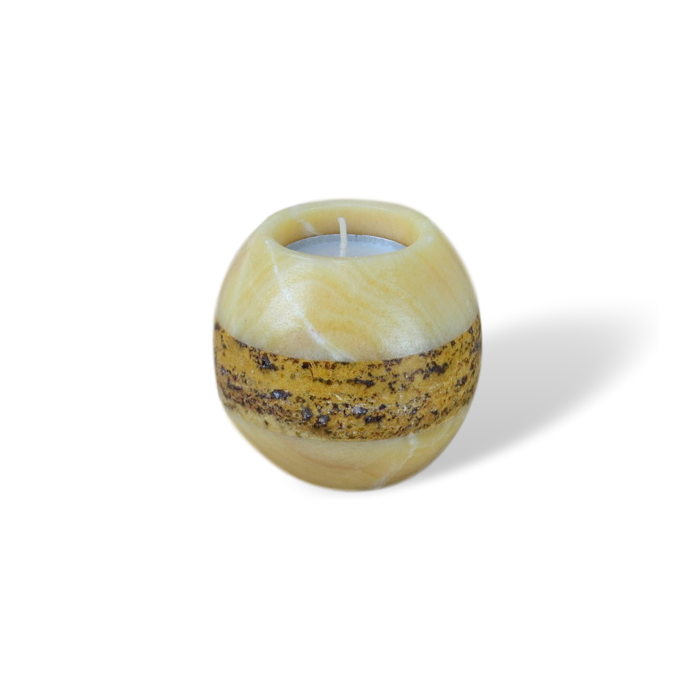 Onyx Candle Holder Striped