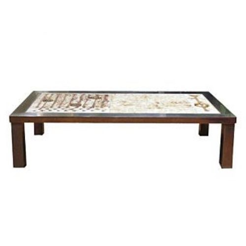 Coffee Table w/ Ceramic Inset and Stainless Steel Frame