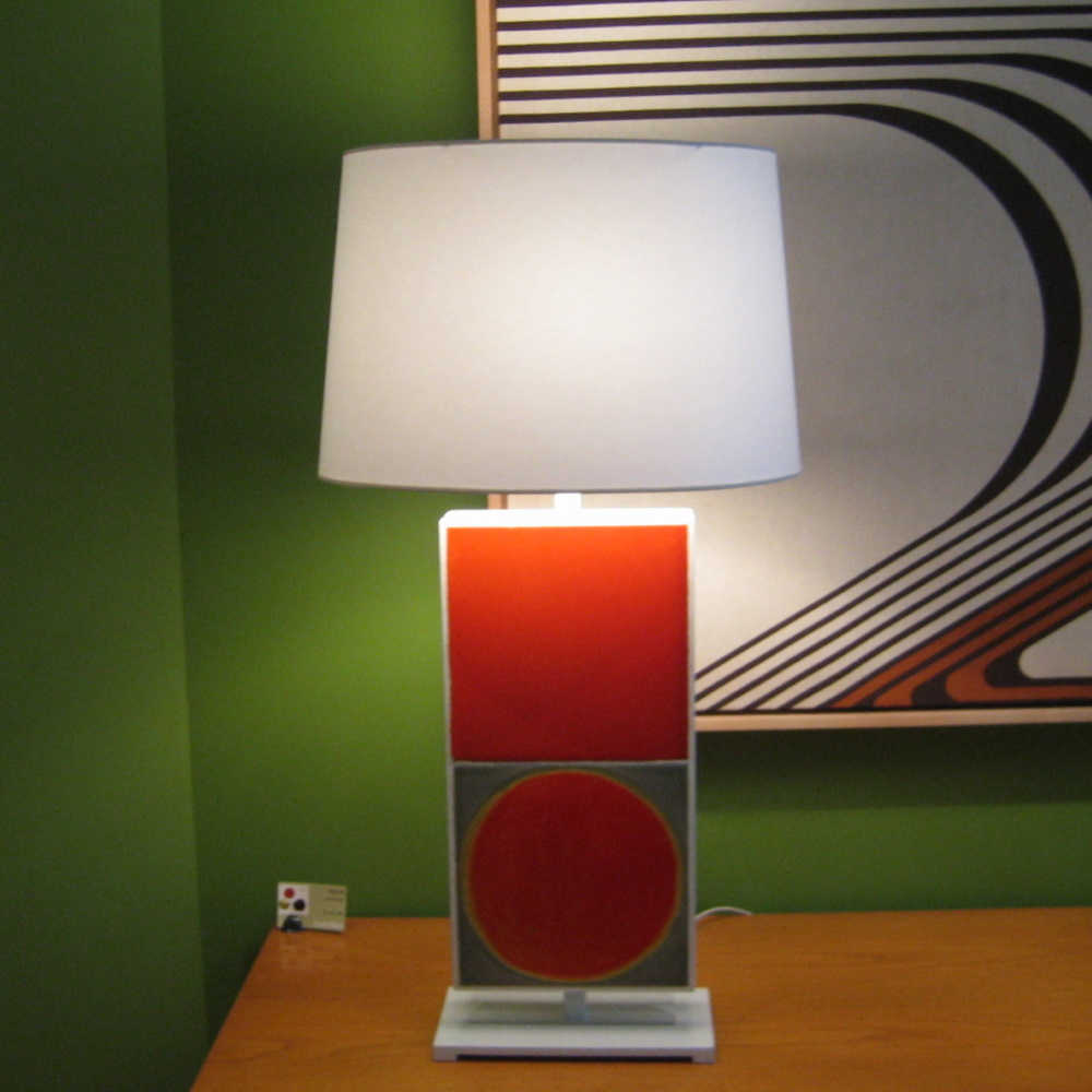 Avila Table Lamp With 2 Roger Capron Tiles