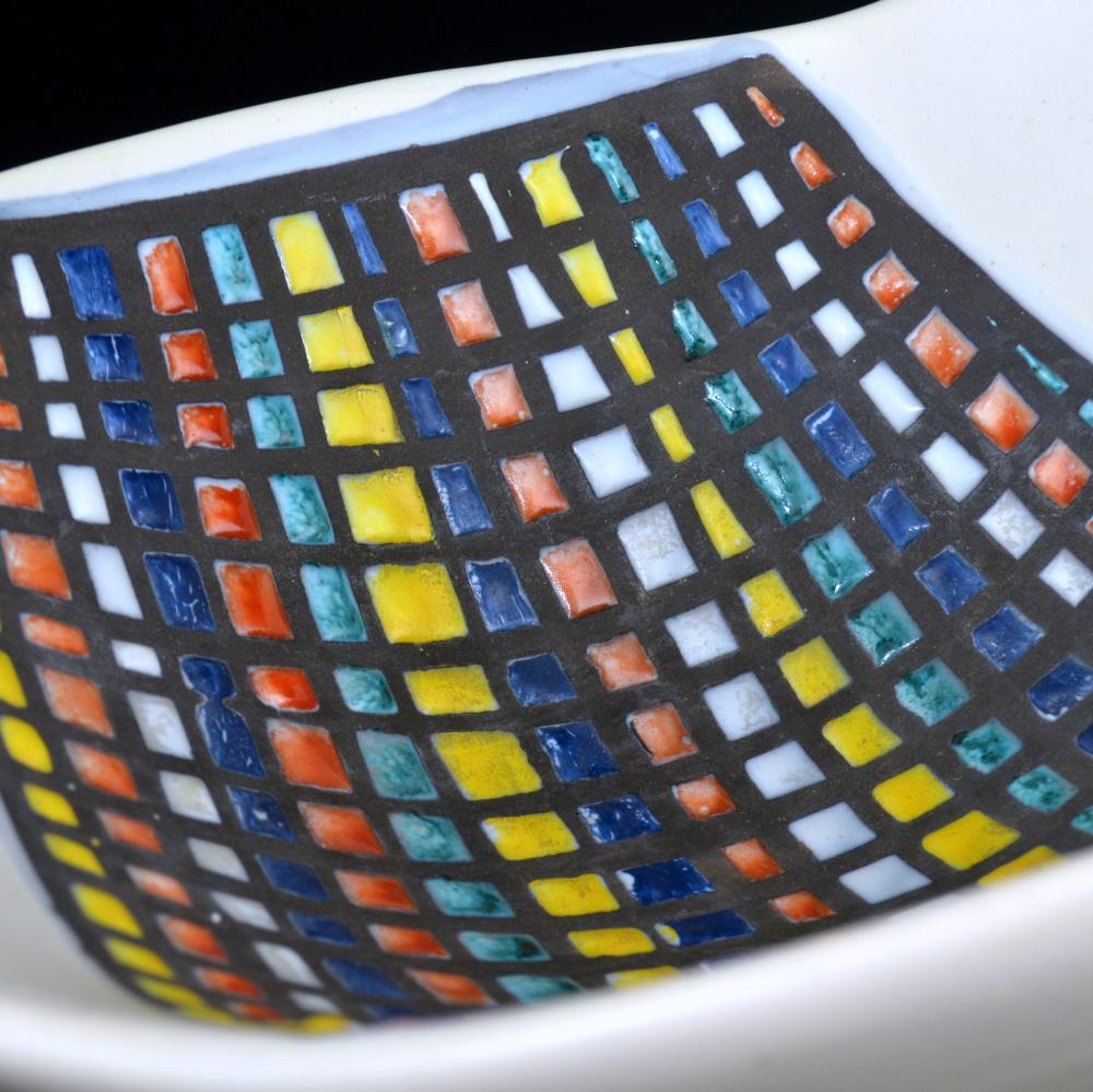 Bowl With Cobblestone ('pavé') Decor By Roger Capron 1