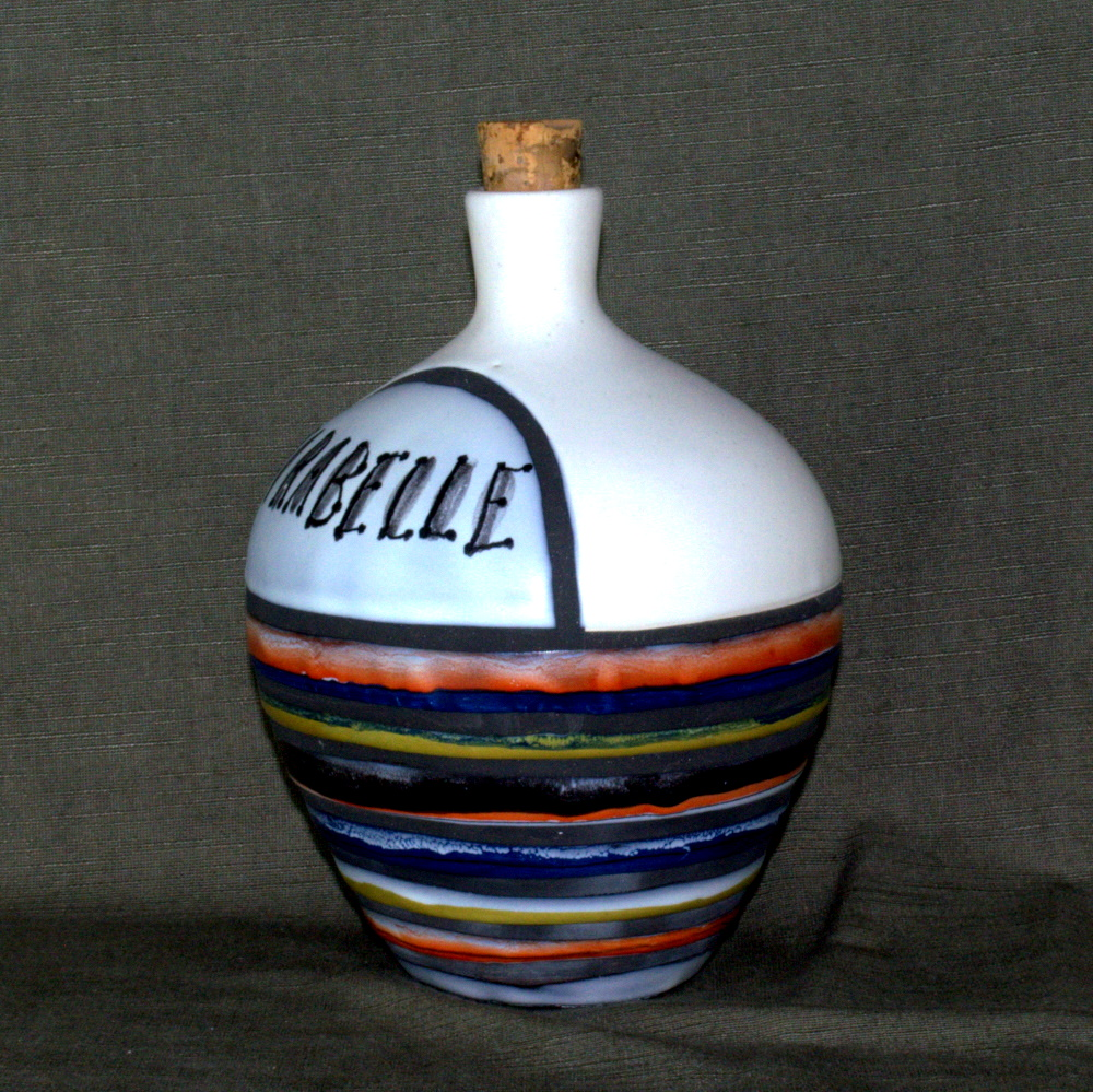 Ceramic Caraf 'mirabelle' By Roger Capron 2