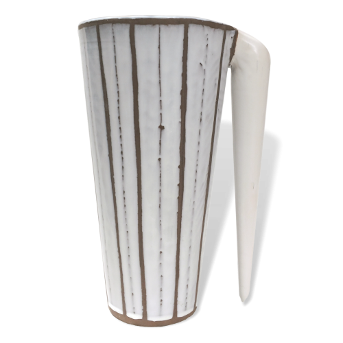 Ceramic Caraf With Stripes By Roger Capron