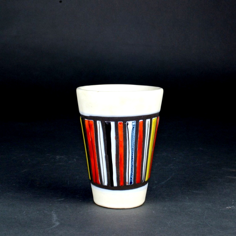 Ceramic Cup With Stripes By Roger Capron 1