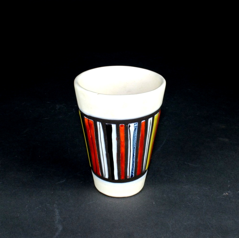 Ceramic Cup With Stripes By Roger Capron 2