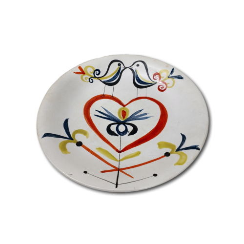 Ceramic Dish By Roger Capron With Heart