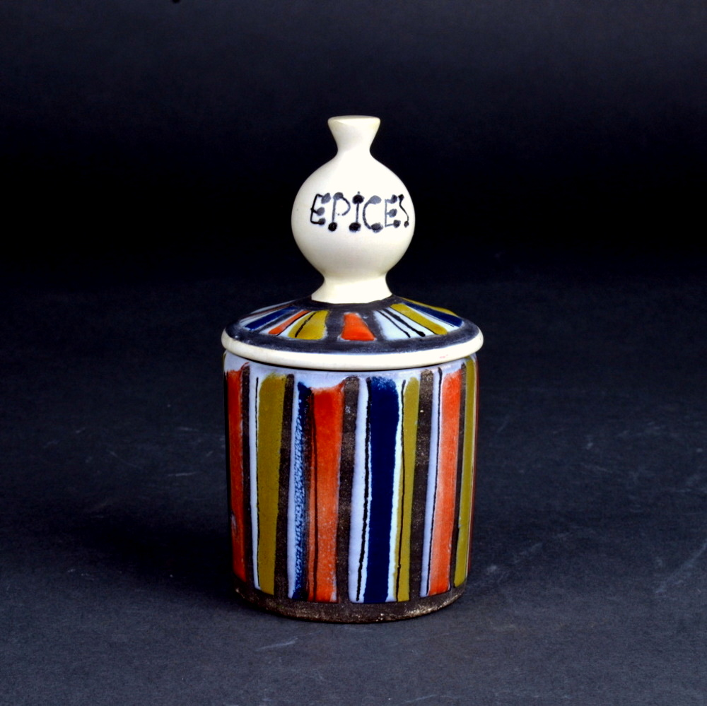 Ceramic Container For Spices By Roger Capron 1