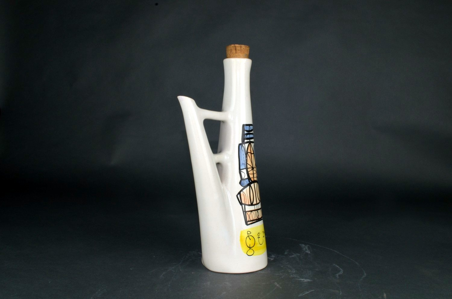 Ceramic Flask 'gin' By Roger Capron 2