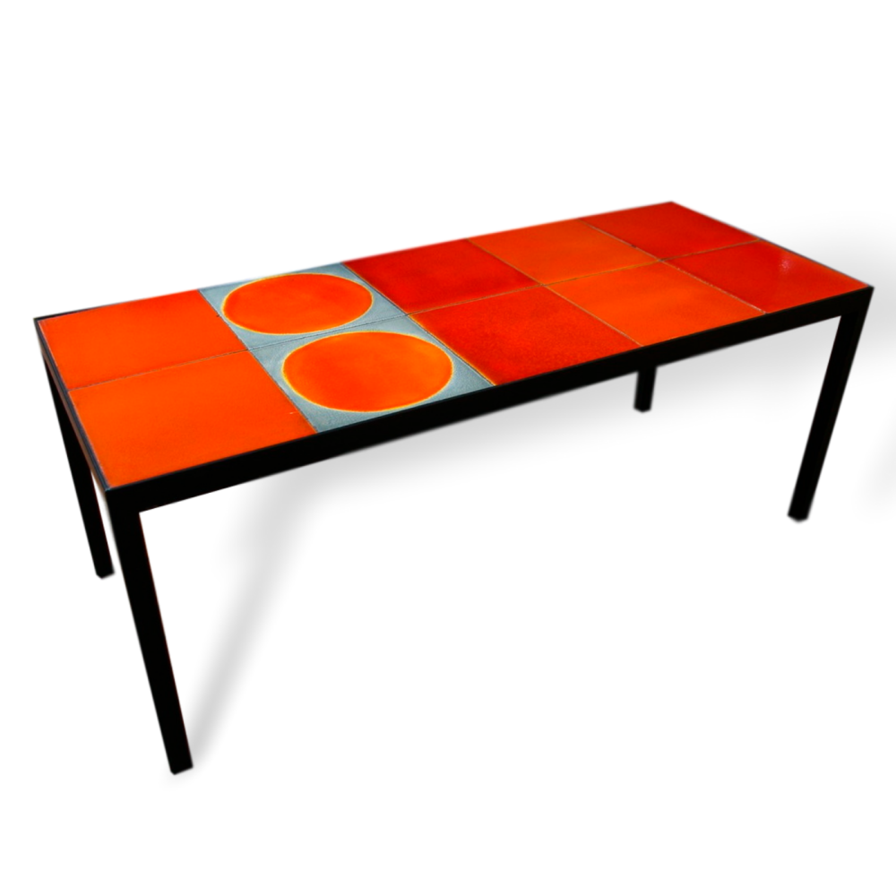 Coffee Table With Roger Capron Tiles