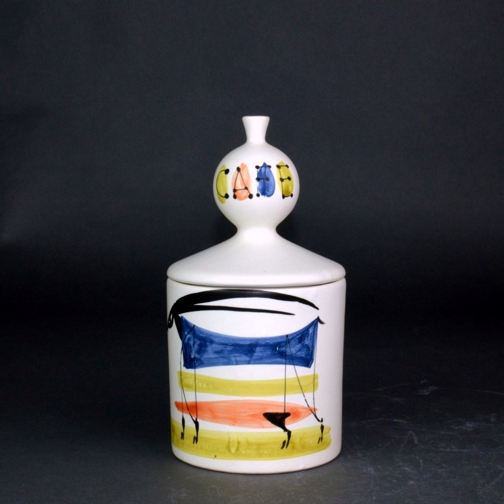 Coffee Jar With Animal Painting By Roger Capron 2