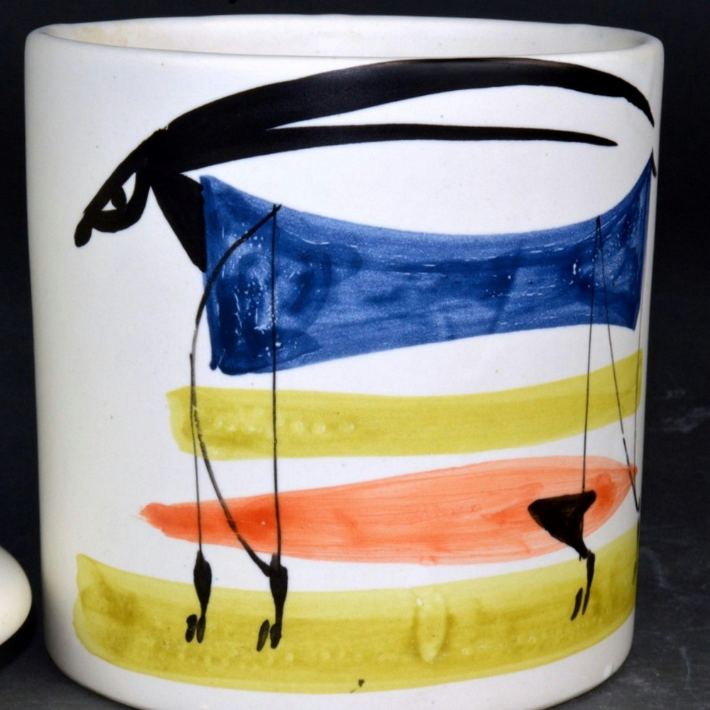 Coffee Jar With Animal Painting By Roger Capron 7