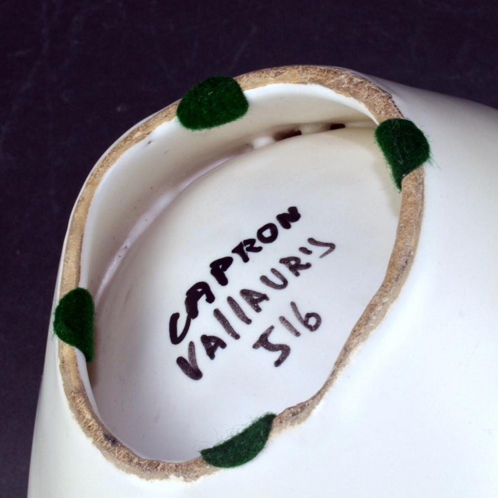 Decorative Ceramic Bowl With Cobblestones By Roger Capron 11