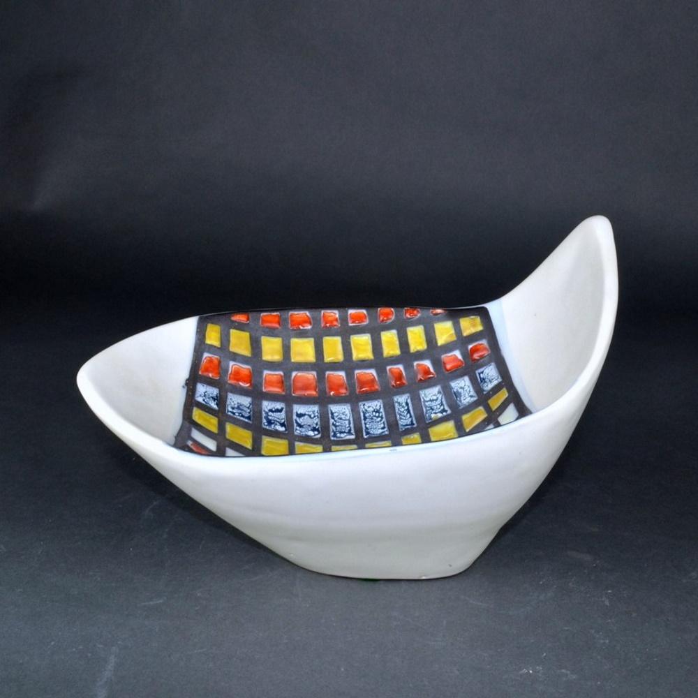 Decorative Ceramic Bowl With Cobblestones By Roger Capron 3