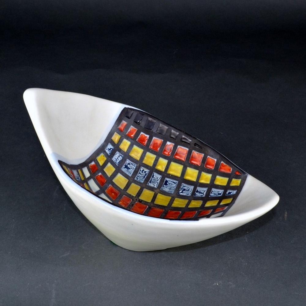Decorative Ceramic Bowl With Cobblestones By Roger Capron 6