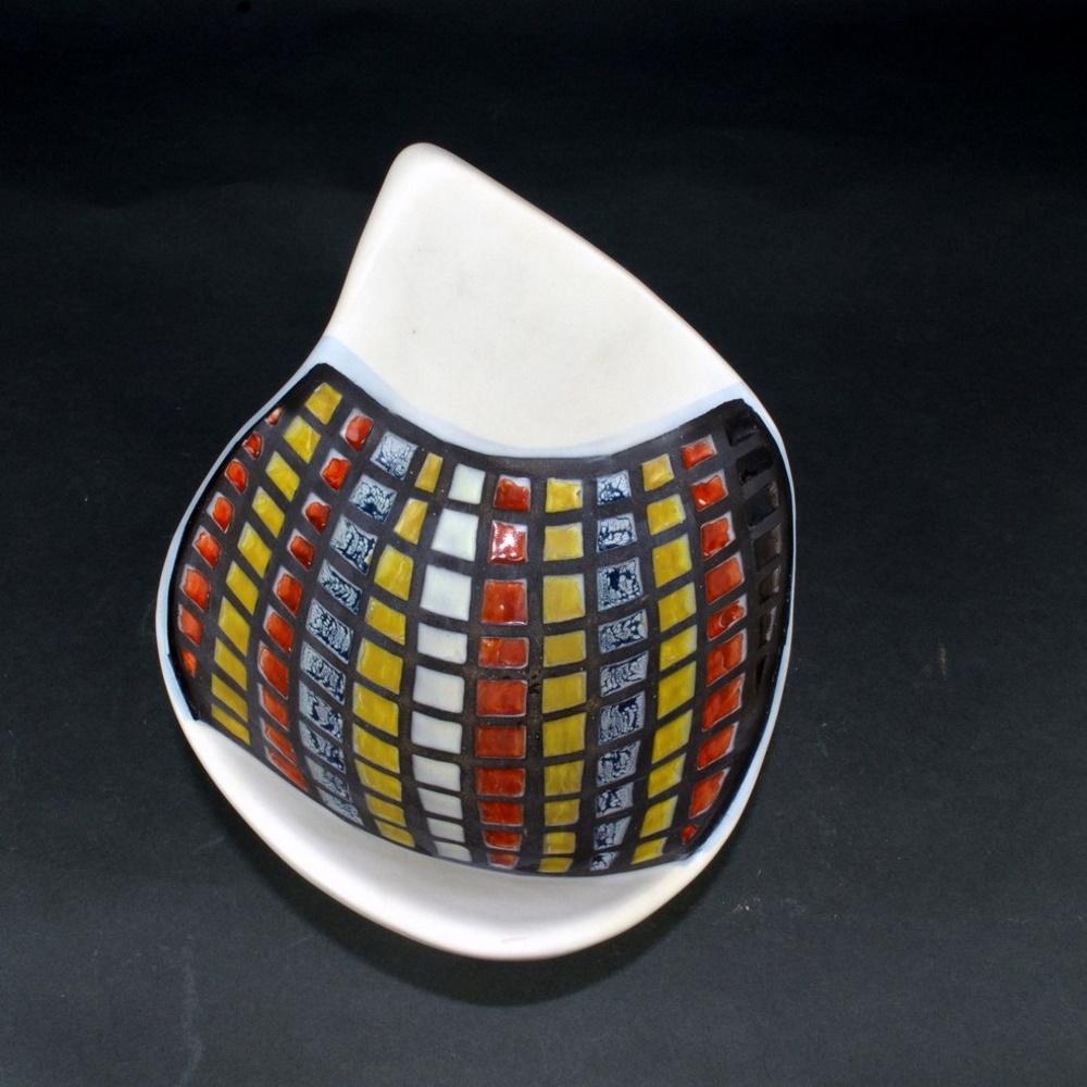 Decorative Ceramic Bowl With Cobblestones By Roger Capron 7