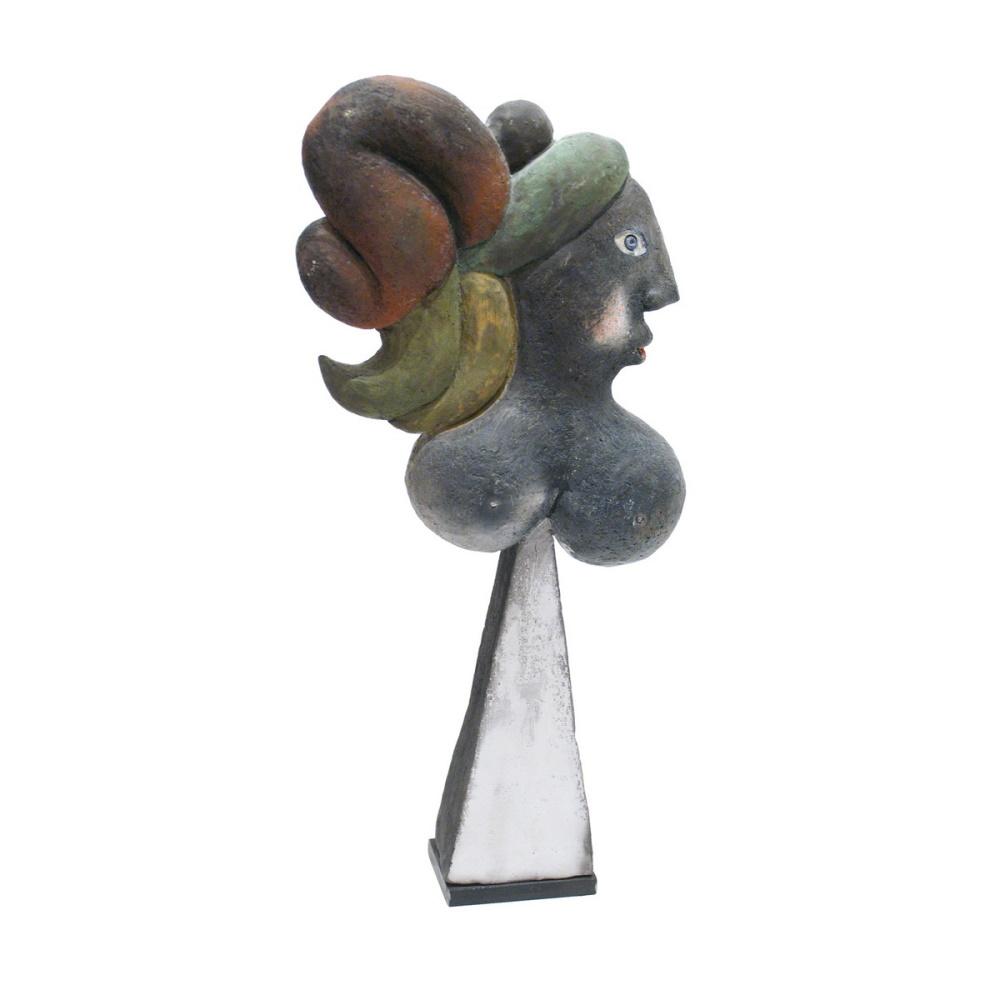 La Chevelue Ou La Marie Steph Sculpture By Roger Capron