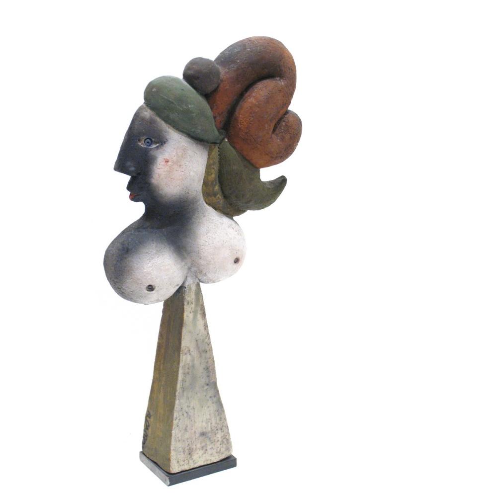 La Chevelue Ou La Marie Steph Sculpture By Roger Capron3