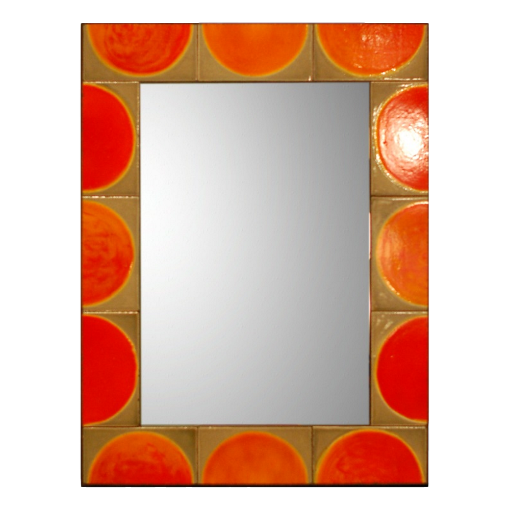 Mirror With Roger Capron Ceramic Tiles