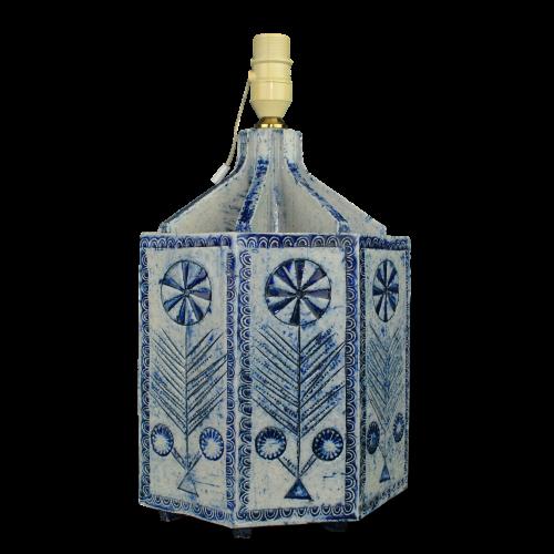 Octagonal Ceramic Lamp By Roger Capron C73 12