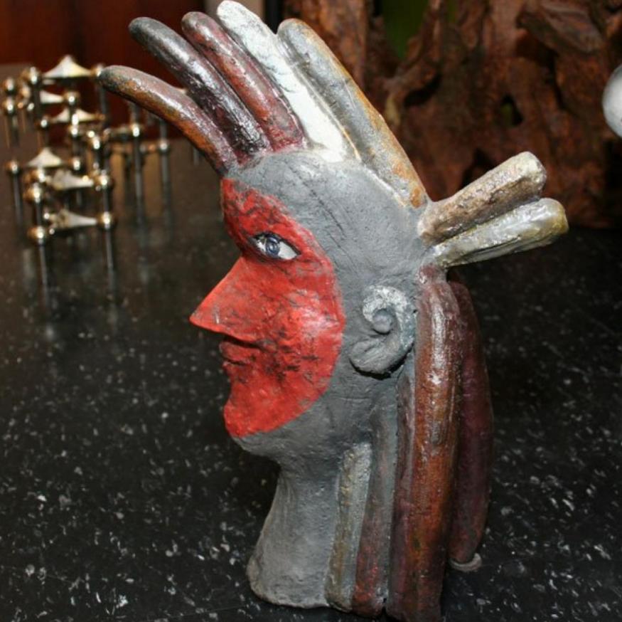 Roger Capron Sculpture Indien