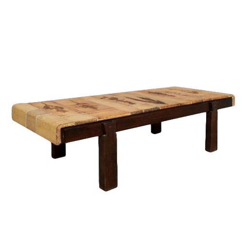 Roger Capron Coffee Table With Garrigue Tiles1