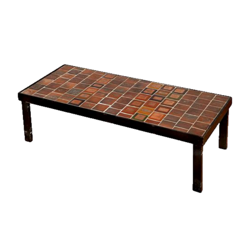 Roger Capron Coffee Table With Garrigue & Herbier Tiles