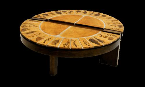 Roger Capron Vintage Ceramic Coffee Table C71 65