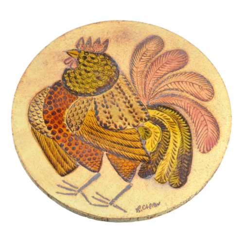 Rooster Trivets By Roger Capron (5) Clipped Rev 1