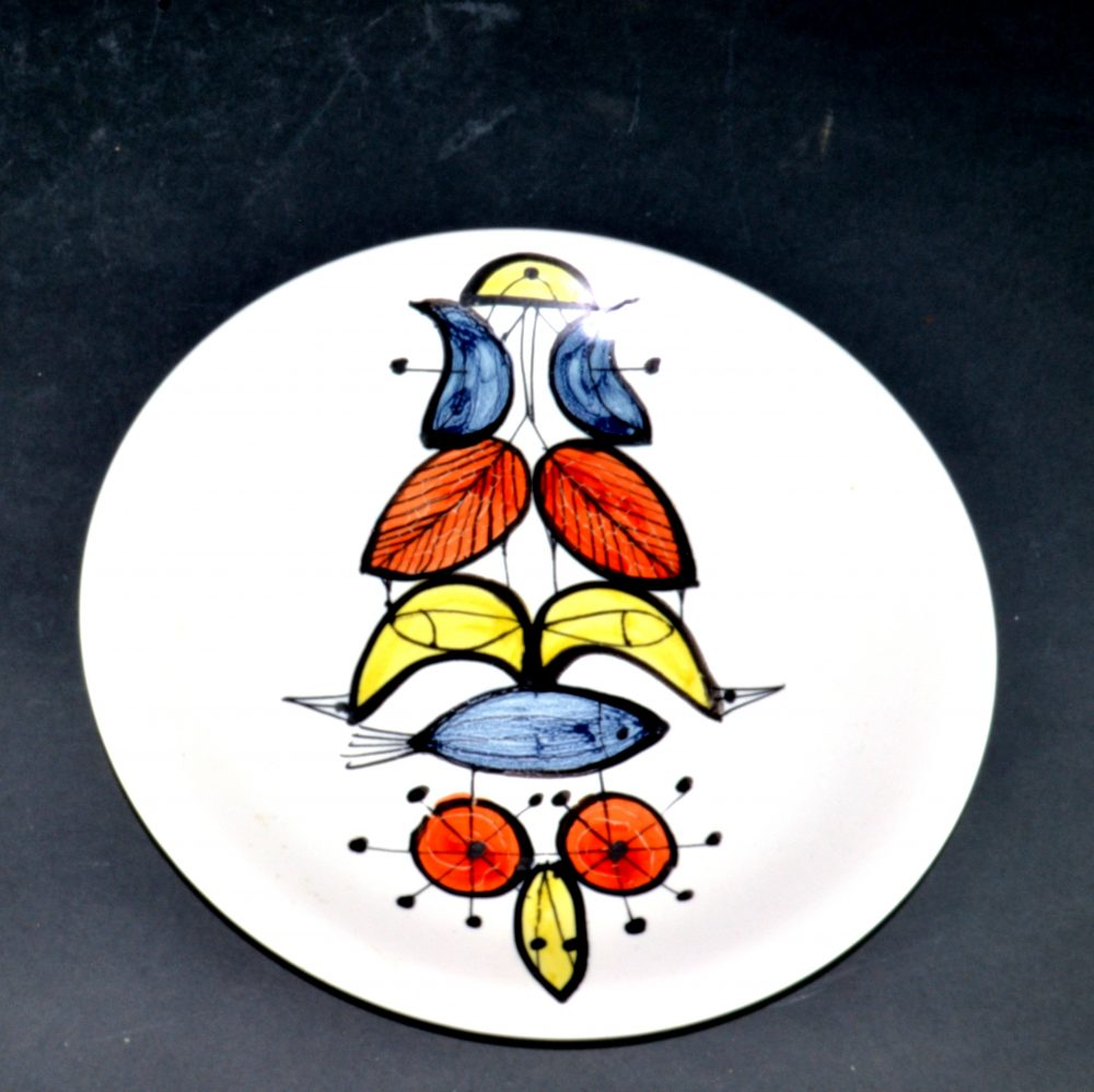 Set Of 4 Plates With Various Motives By Roger Capron 8