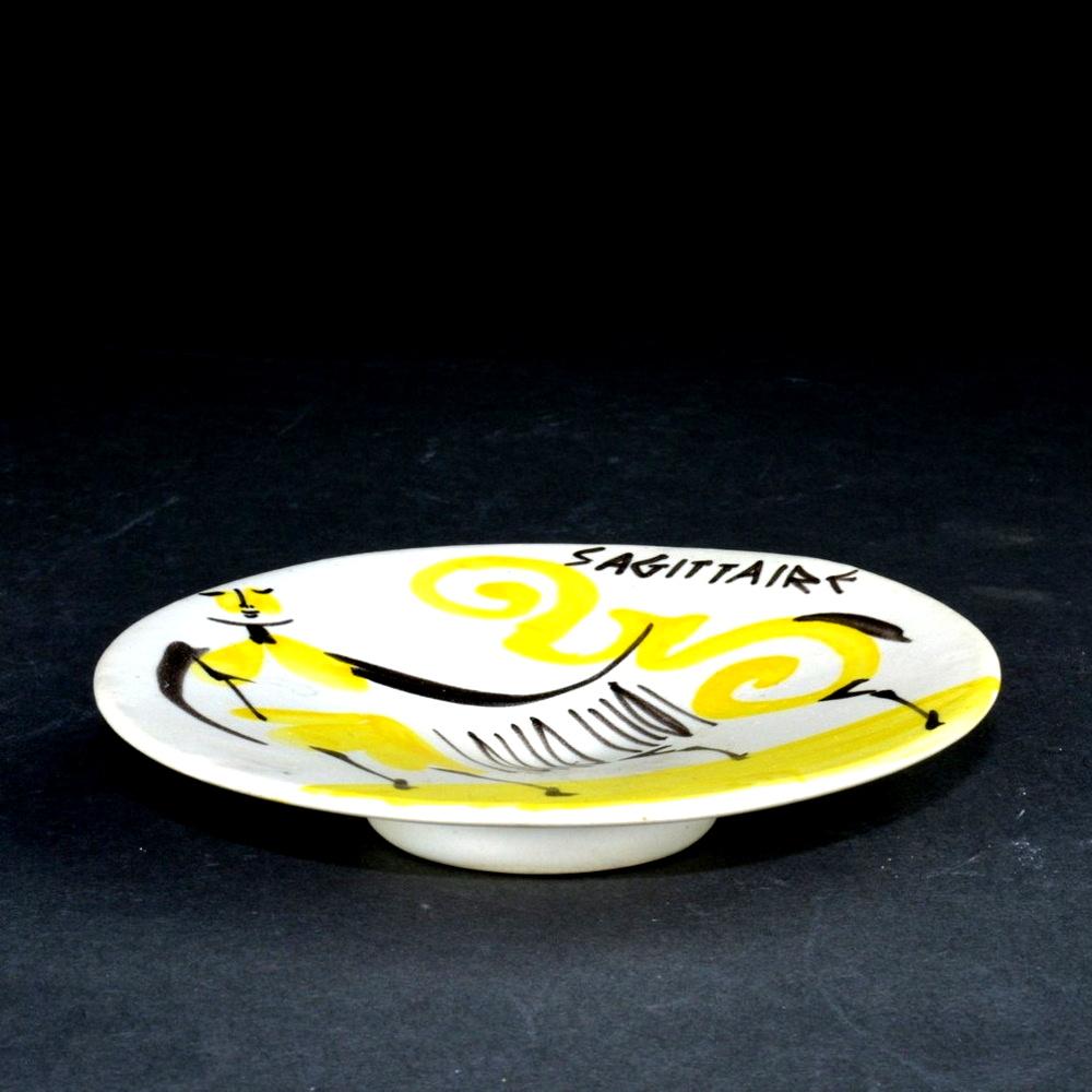 Small Ceramic Dish 'sagittarius' By Roger Capron 1