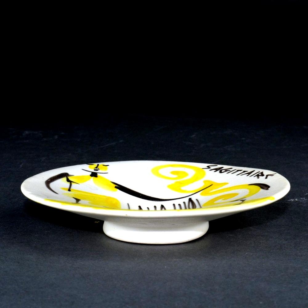 Small Ceramic Dish 'sagittarius' By Roger Capron 4