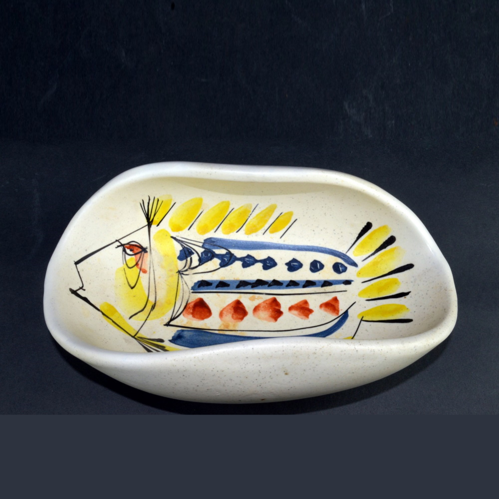 Small Irregular Ceramic Bowl By Roger Capron 6