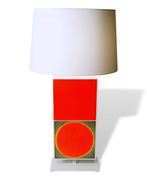 Table Lamp With Roger Capron Tiles By Gueridon Designs