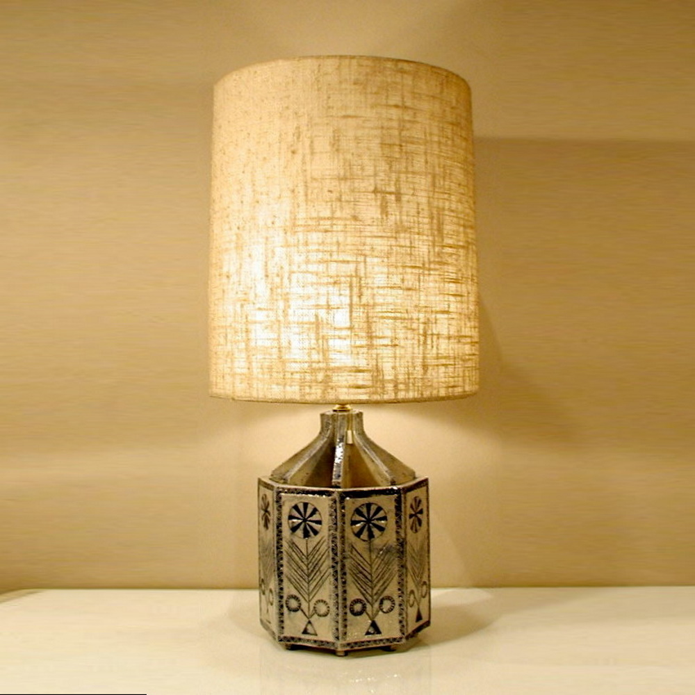 Terra-Cotta-Octagon-Lamp-by-Roger-Capron