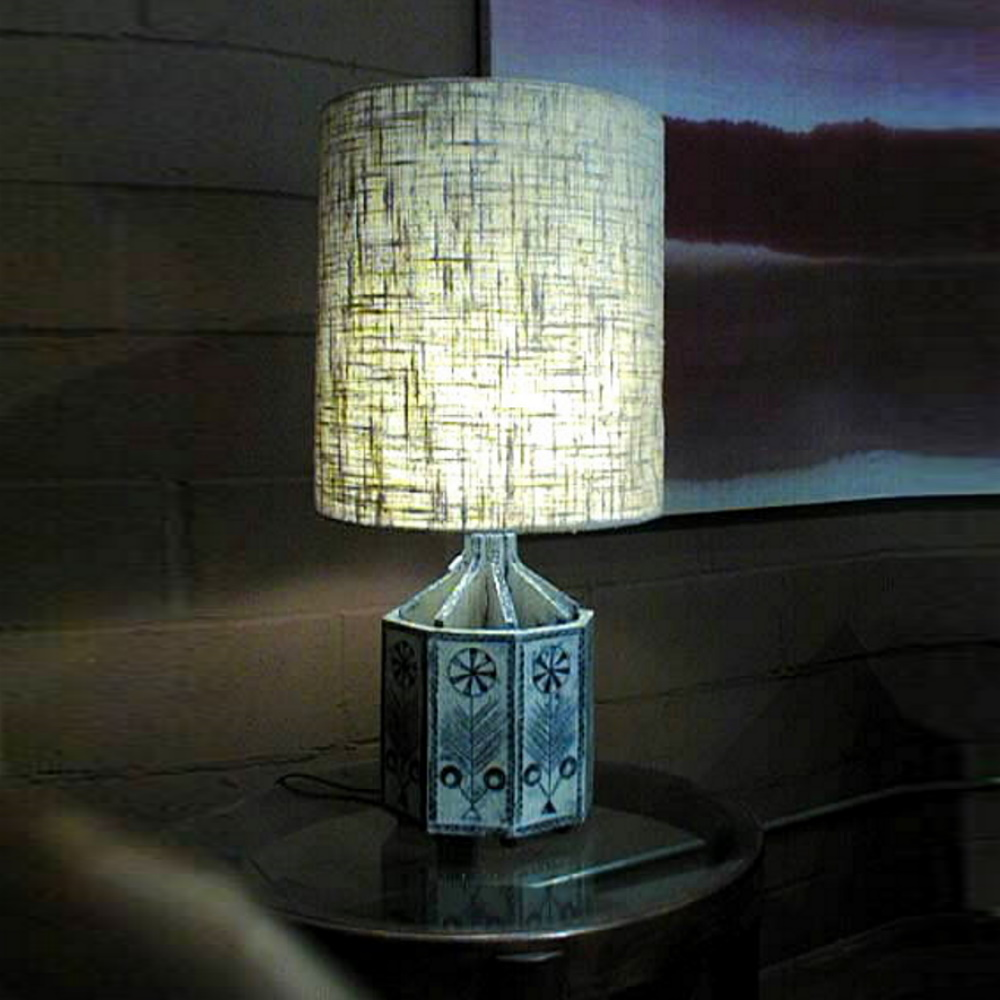 Terra Cotta Octagon Lamp By Roger Capron 3