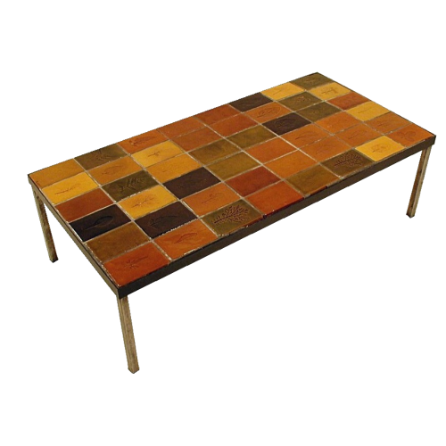 Vintage Ceramic Coffee Table By Roger Capron C71 18