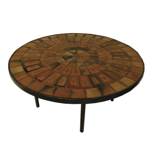 Vintage Ceramic Coffee Table By Roger Capron C71 05