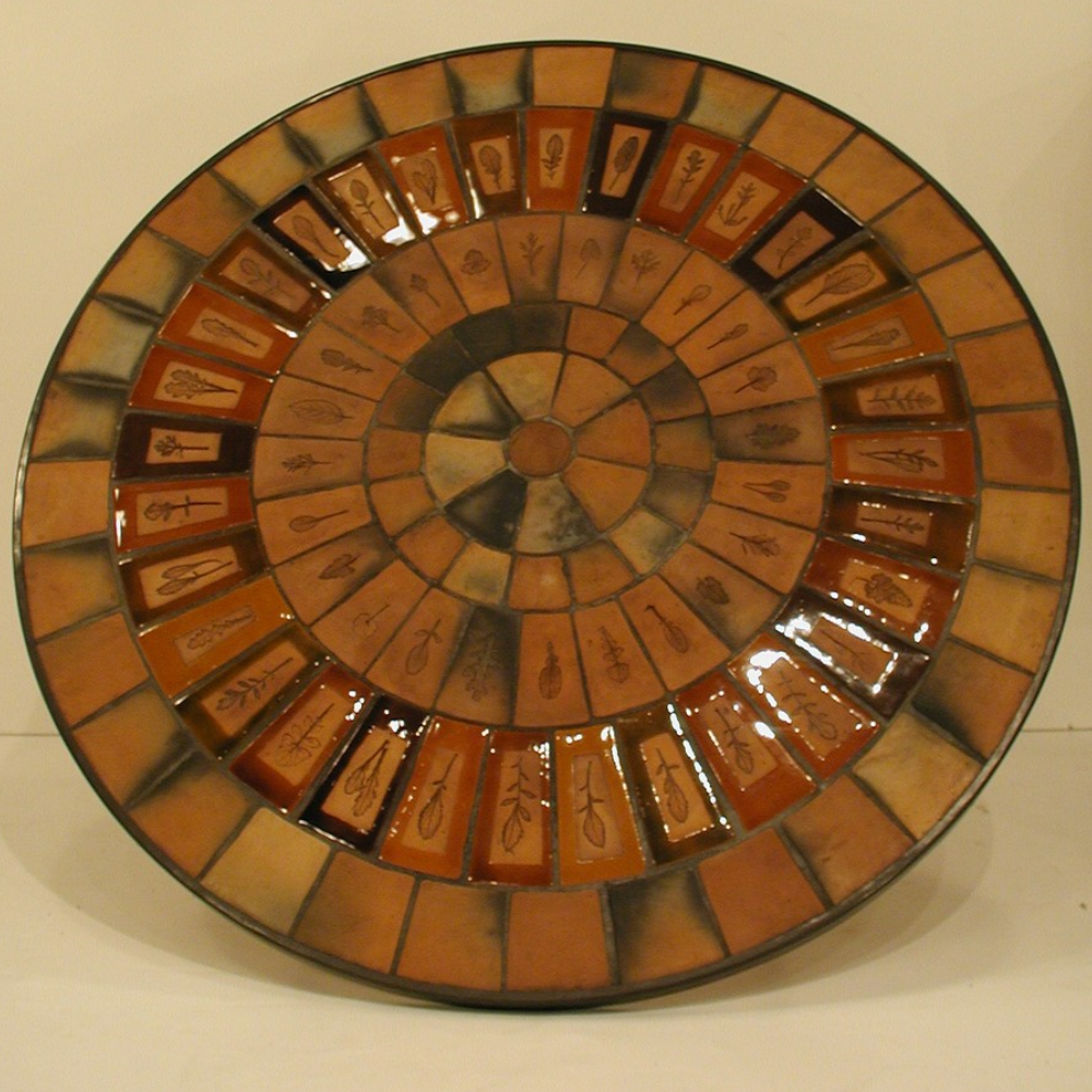 Vintage Ceramic Coffee Table By Roger Capron C71 05b
