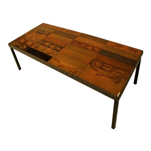 Vintage Ceramic Coffee Table By Roger Capron C71 20