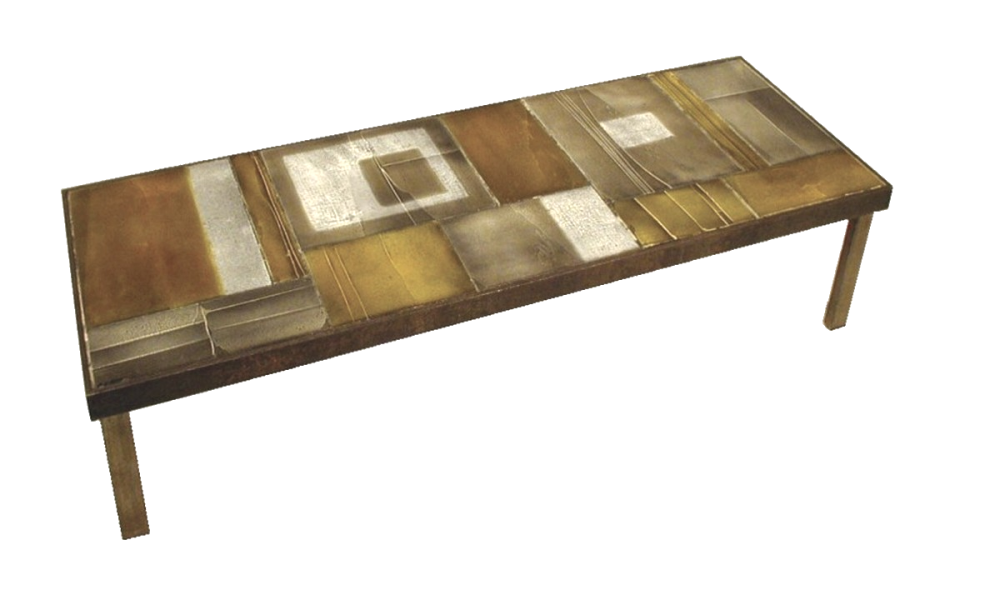 Vintage Coffee Table With Lava Tiles By Roger Capron C71 38 2 1