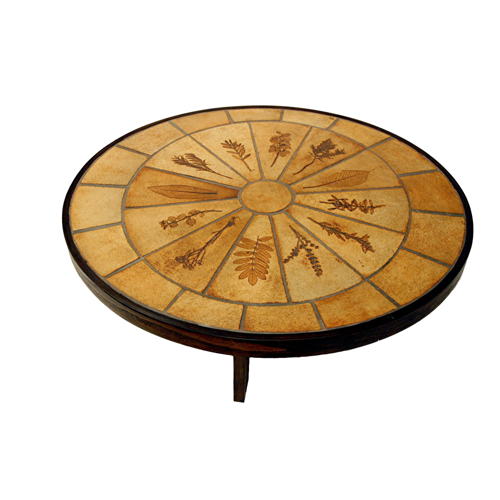 Vintage Oval Roger Capron Coffee Table
