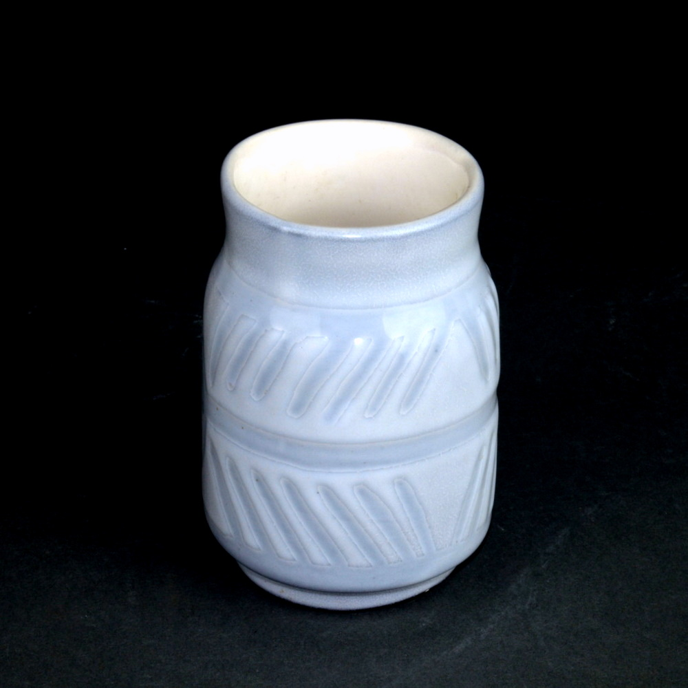 White And Grey Ceramic Container By Roger Capron 3