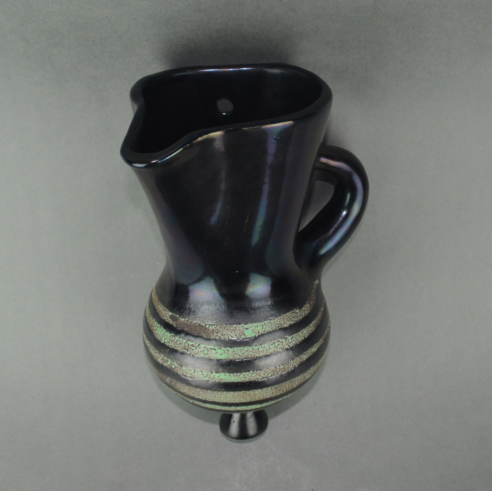 Black Wall Mounted Vase By Roger Capron 4