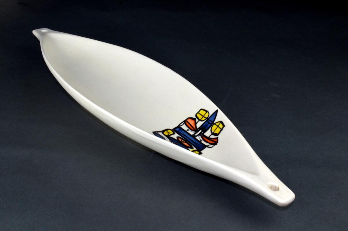 Ceramic Canoe Bowl By Roger Capron 23